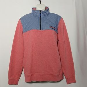 Vineyard Vines Pink Grey Shep Shirt Quilted Size S